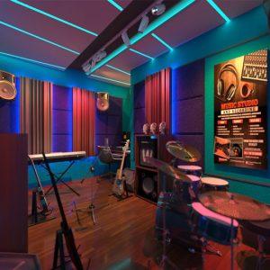 desain studio musik jakarta