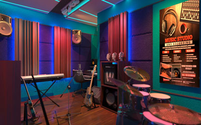 Pemasangan Peredam Suara dan Panel Akustik Studio Musik – Jatipadang Jakarta Selatan