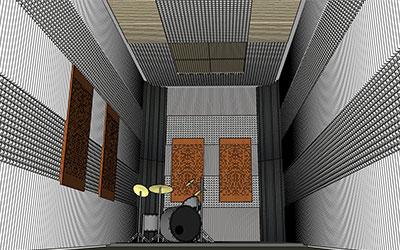 Pembuatan Studio Drum untuk Latihan dan Materi Konten Youtube Streaming daerah Kelapa Gading