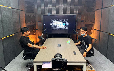 Acoustics Treatment Podcast Studio Gofar Hilman